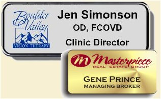 Name Tags, Employee Name Badges, Printed Color ID